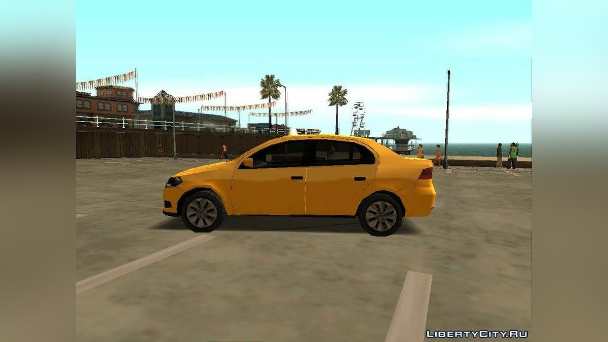 Cars Volkswagen Voyage G6 Taxi for GTA San Andreas