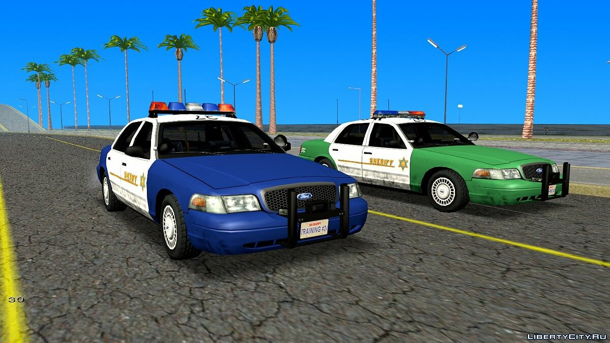 Cars NEW Ford Crown Victoria Sheriff for GTA San Andreas