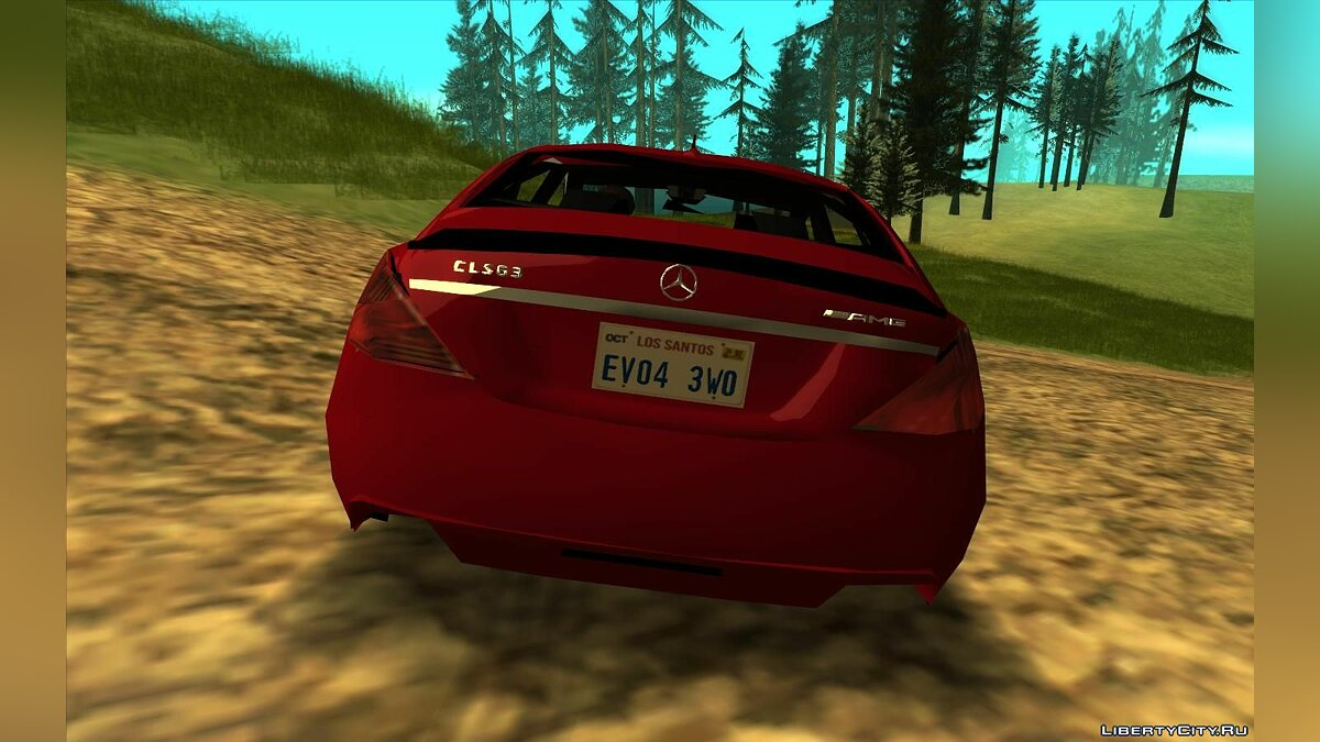 Cars Mercedes CLS63 (Lowpoly) for GTA San Andreas