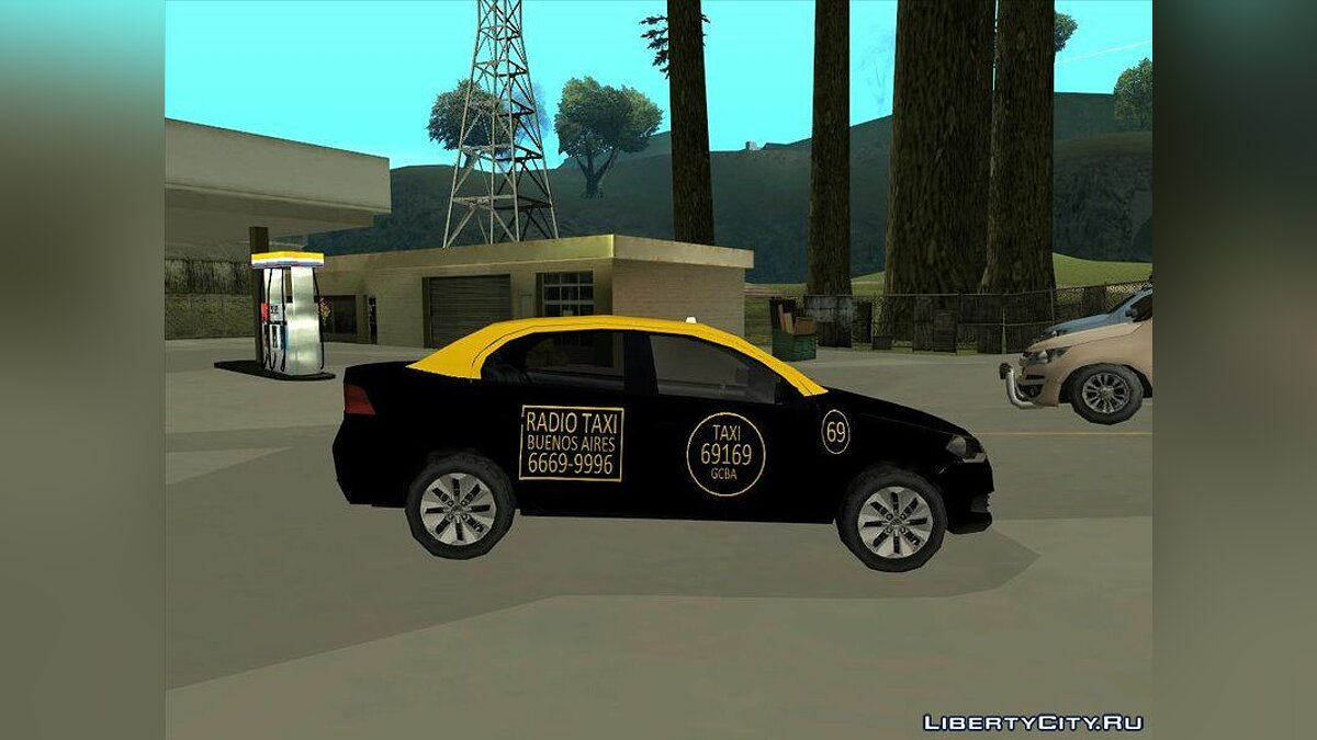 Cars Volkswagen Voyage G6 Taxi Buenos Aires for GTA San Andreas