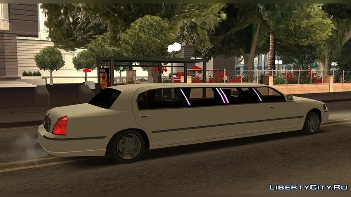 Cars Limousine Lincoln Town Car Lowpoly for GTA San Andreas