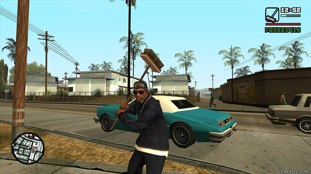 Weapon mod Mop for GTA San Andreas
