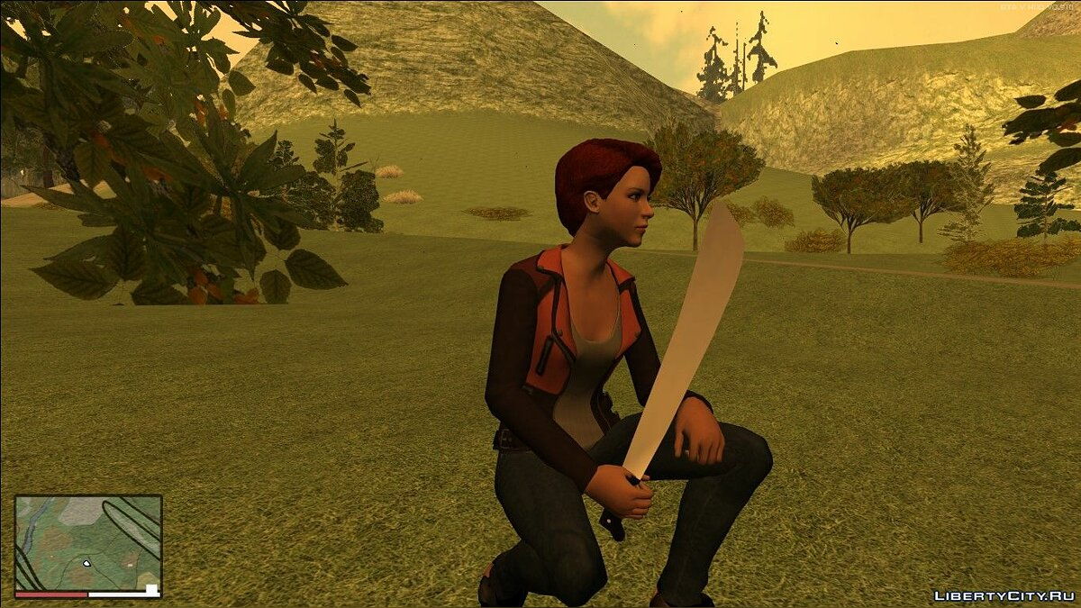 Weapon mod Machete for GTA San Andreas