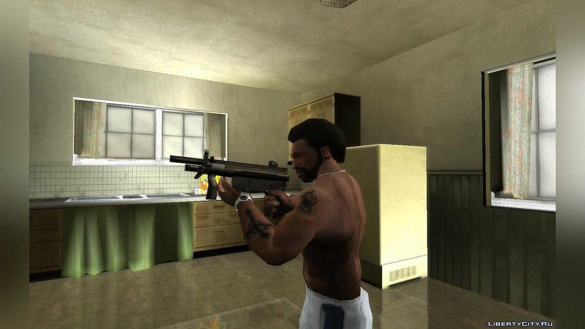 Weapon mod MP5K from GTA Liberty City Stories for GTA San Andreas