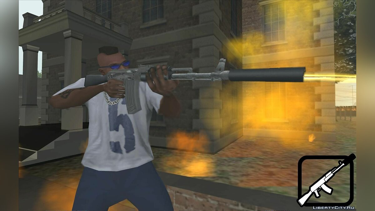 M4 and AK47 from Hitman: Contracts for GTA San Andreas - screenshot #6