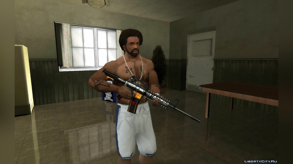 Weapon mod Immortal M4A1 from SFPH Playpark for GTA San Andreas