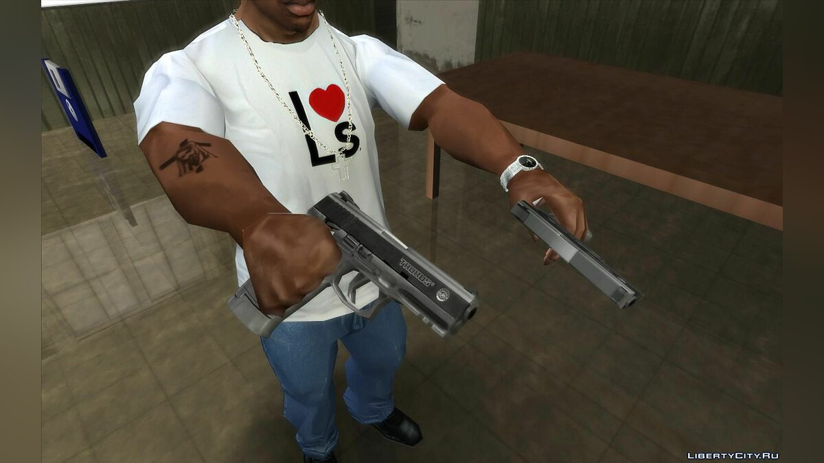Weapon mod Taurus 24/7 and PT 58 (Lowpoly) for GTA San Andreas