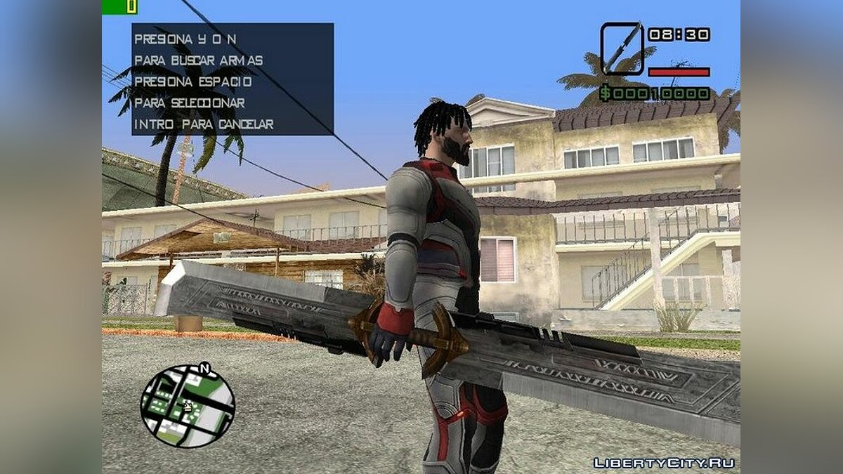 Weapon mod Double Sword of Thanos for GTA San Andreas