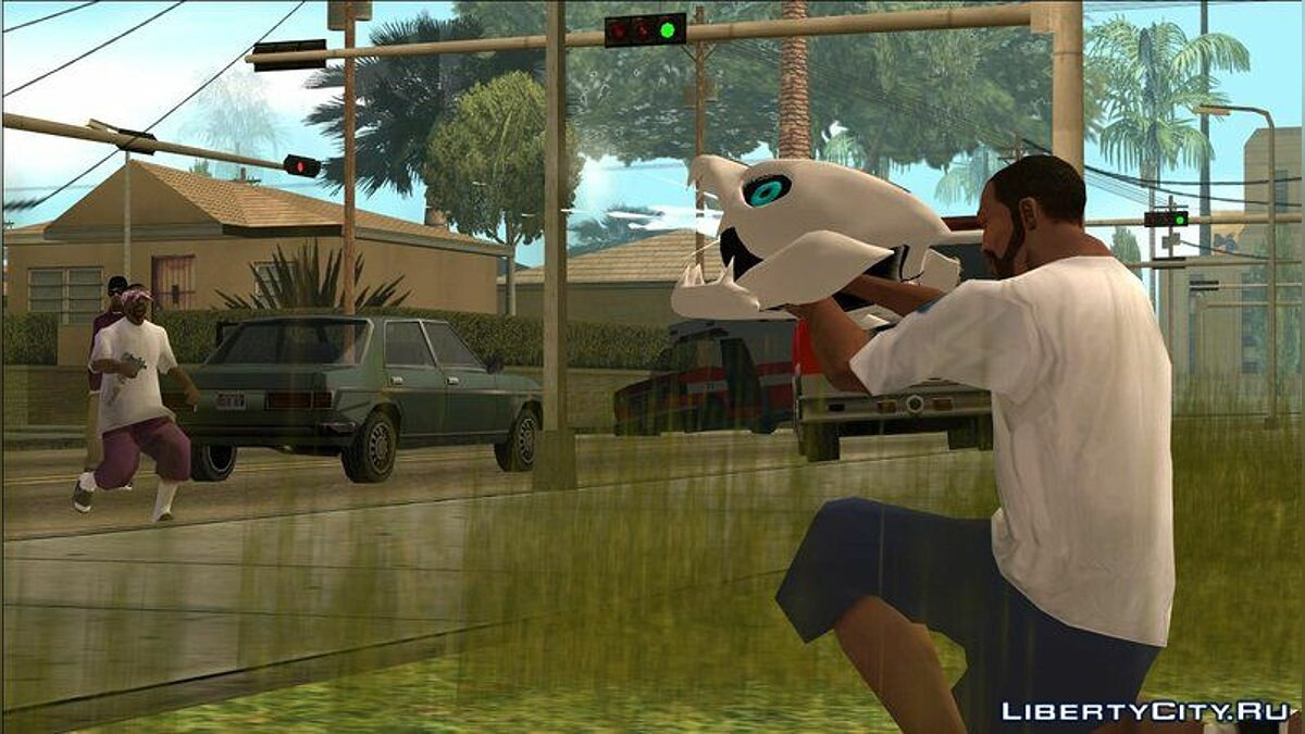 Weapon mod Gaster Blaster for PC and PS2 for GTA San Andreas