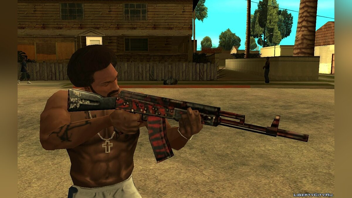 Weapon mod ESports AK47 from SFPH Playpark for GTA San Andreas