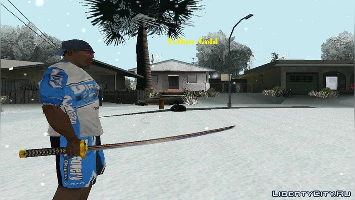 Weapon mod Multi-colored katanas for GTA San Andreas