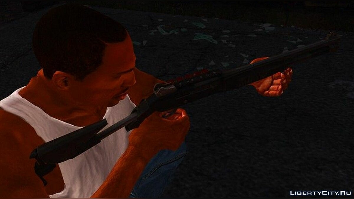 Weapon mod Shotgun Benelli M4 in camouflage colors for GTA San Andreas