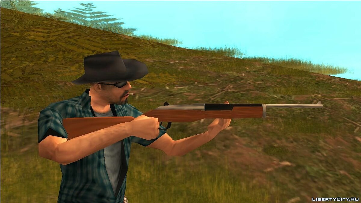 Weapon mod Ranch rifle for GTA San Andreas