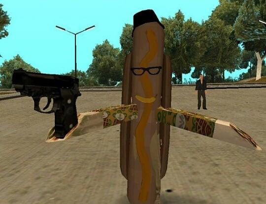 Evil hot dog