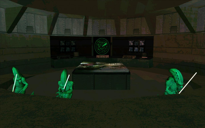 Aliens have captured the base
