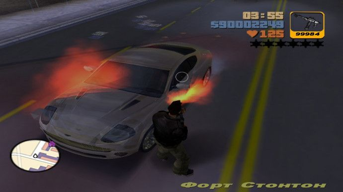 A car with a spark